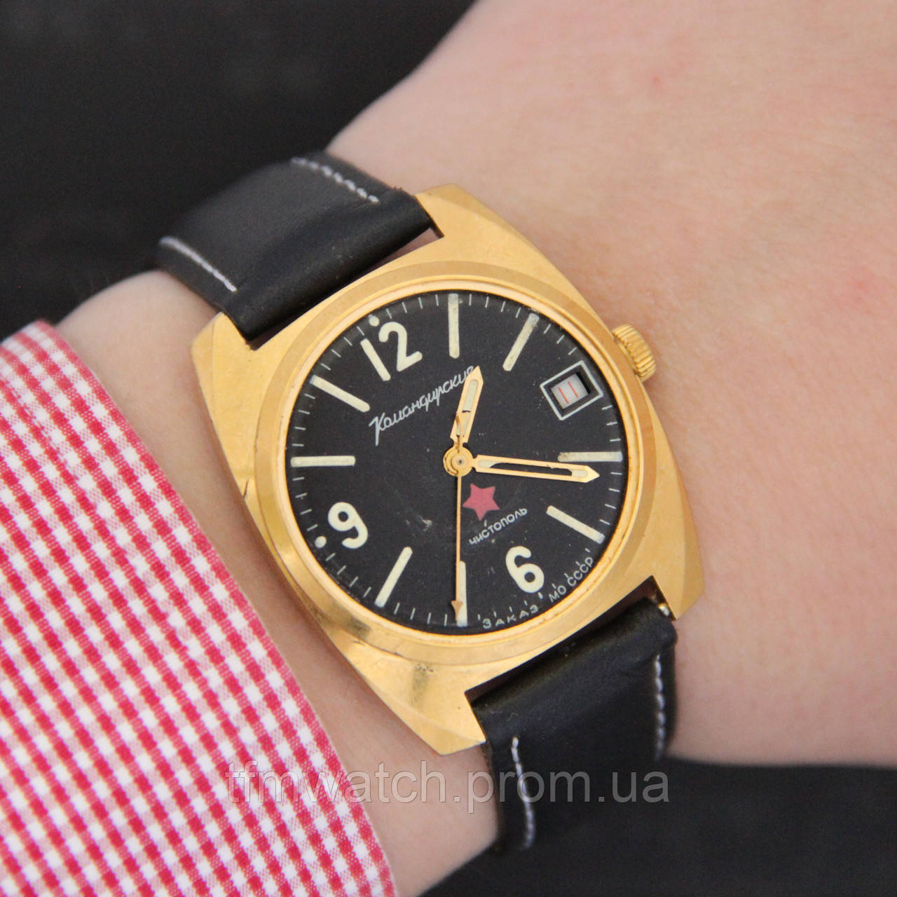 Командирские Чистополь наручные механические часы СССР - Магазин старинных,  винтажных и антикварных часов TFMwatch в a985a99af82