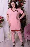Туника удлиненная для крупных женщин, с 48-82 размер, фото 1