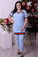 Туника платье для крупных женщин, с 48-82 размер, фото 1