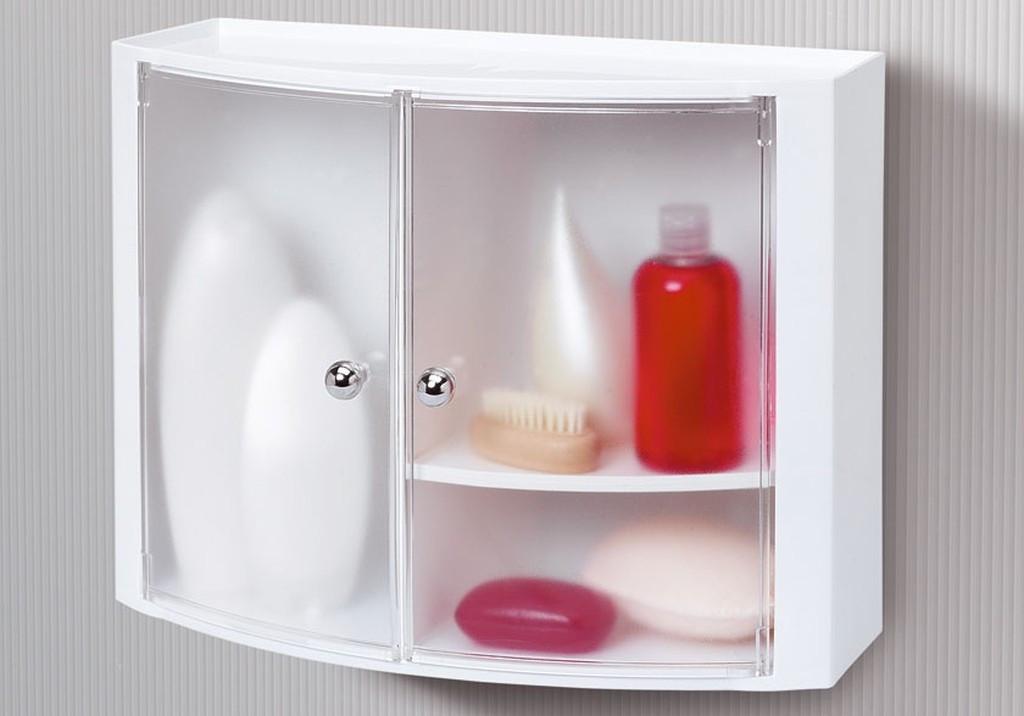 Шкафчик для ванной прозрачно-натуральный