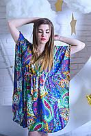 Легкое женское платье для дома из штапеля