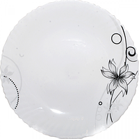 Тарелка стеклокерамика 24 см Лилия SNT 30031-130311