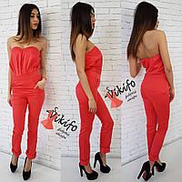 Комбинезон женский с брюками летний разные цвета Df458