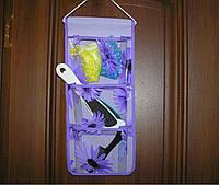 Органайзер подвесной 3 кармана 45х18,5 см фиолетовый