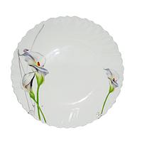 Тарелка стеклокерамика 19 см Каллы SNT 30070-1069