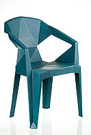 Кресло пластиковое барное MUZE TEALBLUE PLASTIC, фото 1
