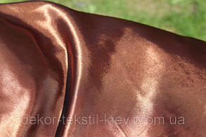 Ткань атласная (атлас), коричневый, тёмный шоколад., фото 2