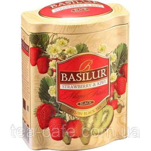 Чай черный Basilur Волшебные фрукты Клубника и киви 100г