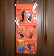 Органайзер подвесной 6 карманов 59 х25 см оранжевый
