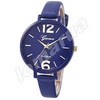 Женские кварцевые часы Geneva Platinum Blue Arabic