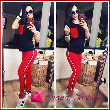 СПОРТИВНЫЙ КОСТЮМ ~Camara~ / Красный с чёрным, фото 2