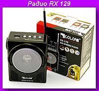 Радио RX 129,Радиоприёмник с плеером и led-фонариком golon rx129