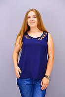 Аделина. Блузка больших размеров. Синий., фото 1