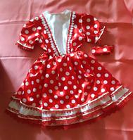 Платье атласное в горох на 3 - 4 года
