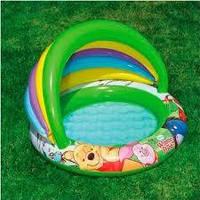 """Детский бассейн Intex 57424 Disney (102x69х13 см.) с навесом """"Винни Пух"""", фото 1"""