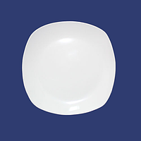 Тарелка белая стеклокерамика 20 см (квадрат) хорека SNT 13606