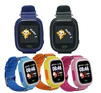 Детские умные часы Q100 (Q90).(Сенсорный дисплей + Wi-Fi).
