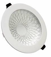 Светильник встраиваемый Plate 6w 4000k серебряный узор