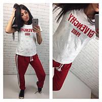 Летний спортивный костюм, 42, 44, 46, красный+белый