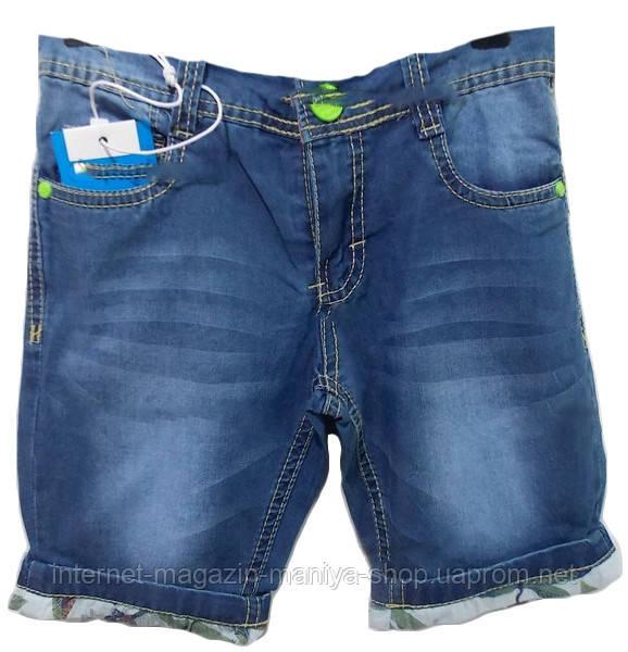 Шорты детские на мальчика джинс (4-12лет) B-001
