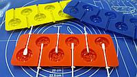 Силиконовая форма для леденцов и конфет Розочка на палочке