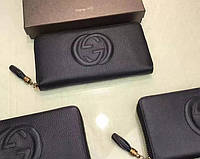 Женский кошелек в стиле Gucci (758406) black, фото 1