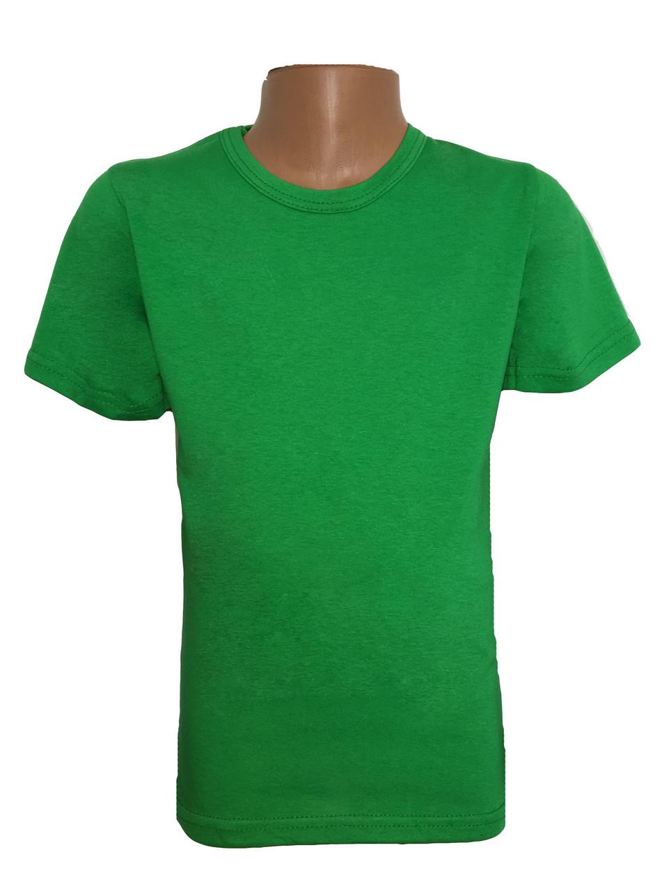 Футболка подростковая зелёная
