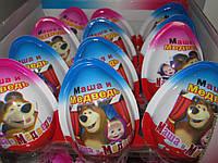 Яйцо King egg  Маша и Медведь (типа Kinder Joy)