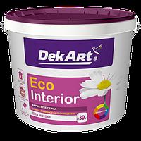 Краска DEKART WALL (Eco Interior) 1.2кг - Стойкая к влажной уборке краска для стен и потолков