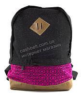 Стильный качественный женский рюкзак в блесках Гипюр art. Турция с розовой вставкой