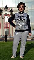 """Женский спортивный костюм """"EZE"""" из трикотажа (Турция); разм 48,50,52,54,56"""