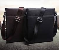 Стильная мужская сумка. Коричневая