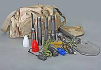 Многофункциональная складная лопата-набор инструментов с фонариком туристическая или для автомобиля