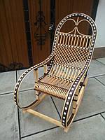 """Кресло-качалка """"Ротанг"""" коричневая №3"""