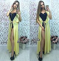 Женская шифоновая модная пляжная туника в пол без рукавов (12 цветов), фото 1