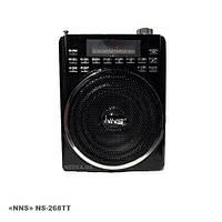 Радиоприемник NS-256, Sd кардридер, аудио вход, функция записи. Портативный приемник для отдыха.