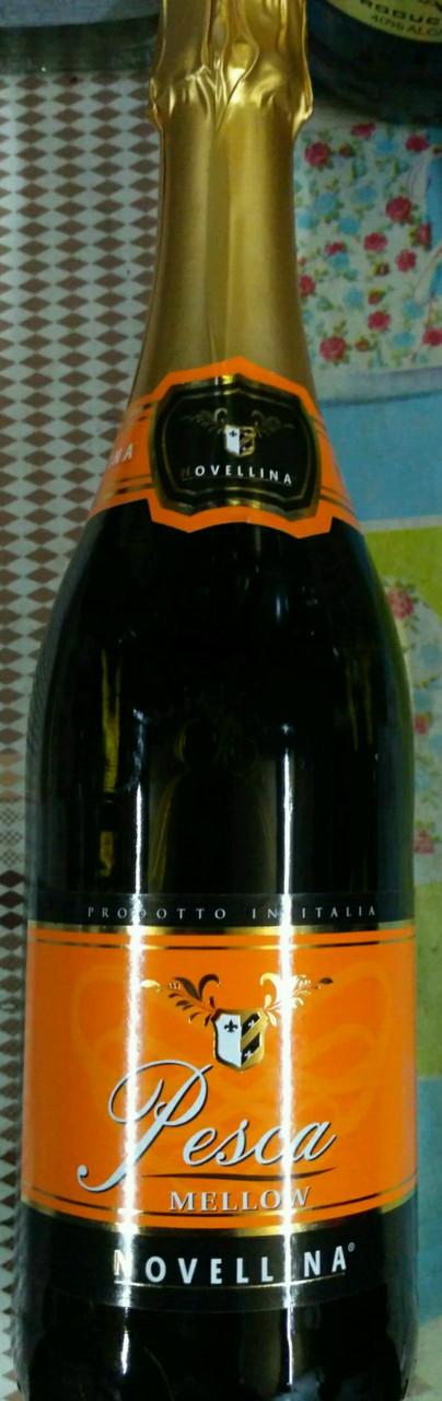 Итальянское белое игристое вино Fragolino Novellina Pesca со вкусом персика 0,75л
