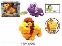 """Муз. игрушка """"Лев"""", 2 вида, батар., звук, свет, в кор. 18х14х26 /36-2/ SL6688-1"""