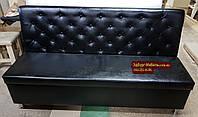 Диван Ренессанс с ящиком черный 1800х550х900мм