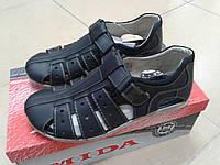 НОВИНКА! Мужские летние сандалии из натуральной кожи МИДА 13353 черные