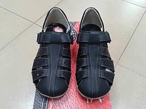 НОВИНКА! Мужские летние сандалии из натуральной кожи МИДА 13353 черные, фото 2