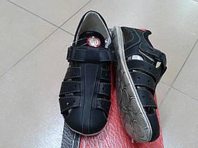 НОВИНКА! Мужские летние сандалии из натуральной кожи МИДА 13353 черные, фото 3