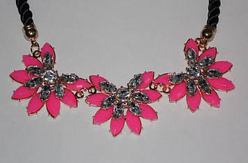 Бижутерия Украшение Ожерелье Колье Подвеска Цветы Красные