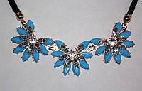Бижутерия Украшение Ожерелье Колье Подвеска Цветы Голубое