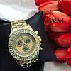 Женские красивые часы со стразами и тремя циферблатами