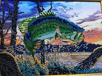"Картина ""Рыбалка рассвет"""