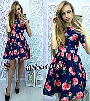 Женское модное платье с цветочным принтом (4 цвета)