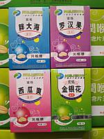 Леденцы для горла от кашля (вкус мяты, миндаль и вкус арбуза) бумажная коробка