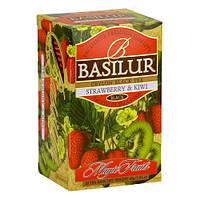 Чай черный Basilur Волшебные фрукты Клубника и киви пакетированный 20х2г