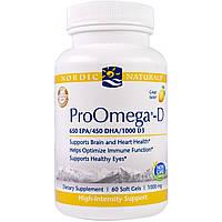 """Nordic Naturals Professional, """"ПроОмега"""", пищевая добавка с омега-3, 1000 мг, 60 капсул"""